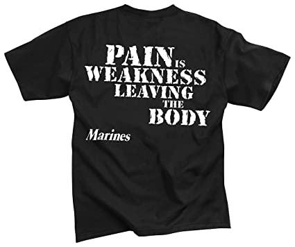 5ddb83eb4c Amazon.com  Rothco T-Shirt Pain is Weakness  Sports   Outdoors