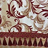 European style chinese wine red lace tablecloth,Coffee table cloth-A 150x220cm(59x87inch)
