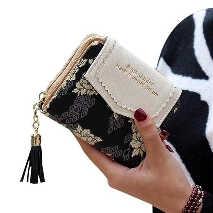 1 opinioni per borsellino piccolo da donna con stampa a fiori nero Black