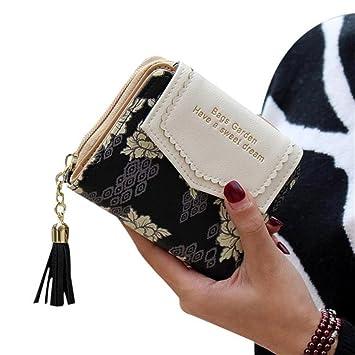 Kolylong mujeres señoras diseño de flores embrague cartera ...