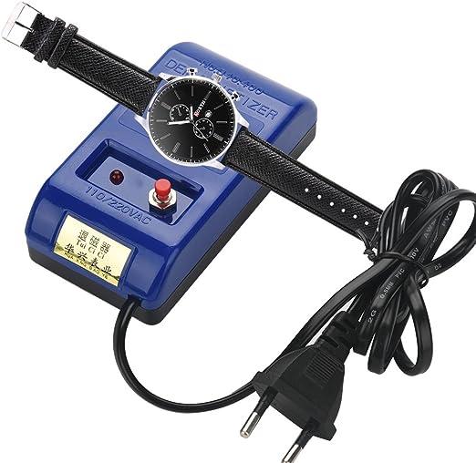 Herramienta de Reparación Erramienta de Desmagnetización de Mantenimiento Profesional de Tiempo de Reloj de Calibración Llave de Cuarzo 110-220V: Amazon.es: Bricolaje y herramientas