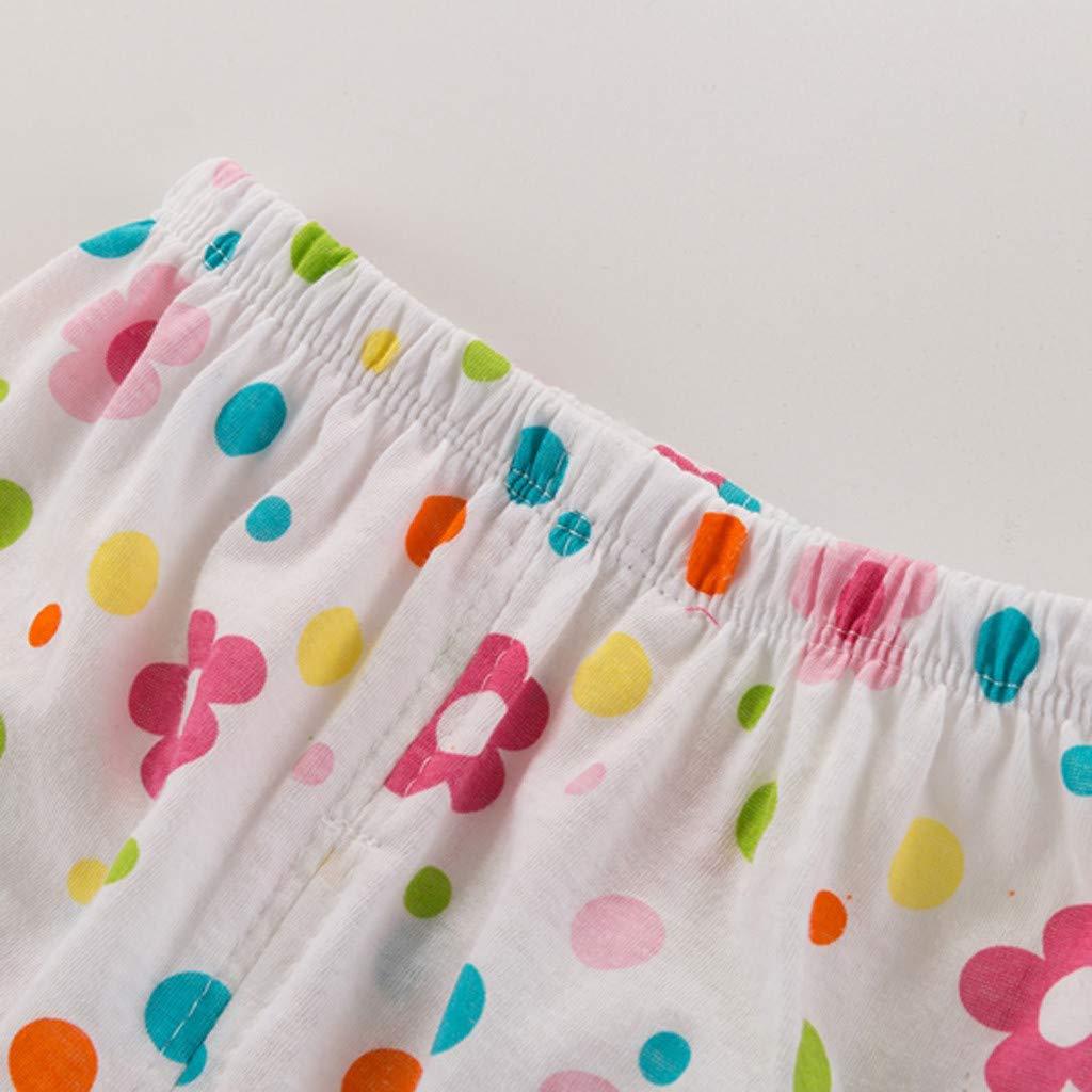Efaster Children Infant Baby Kid Girl Boy Print Bubble PP Shorts Leggings Underwear Outfits 0-24 Months