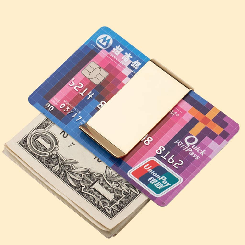Color : Gold, Size : 62.50.8cm Wallets Creative Metal Mens Ultra-Thin banknote Clip Brass Clip Paper Clips can be Customized