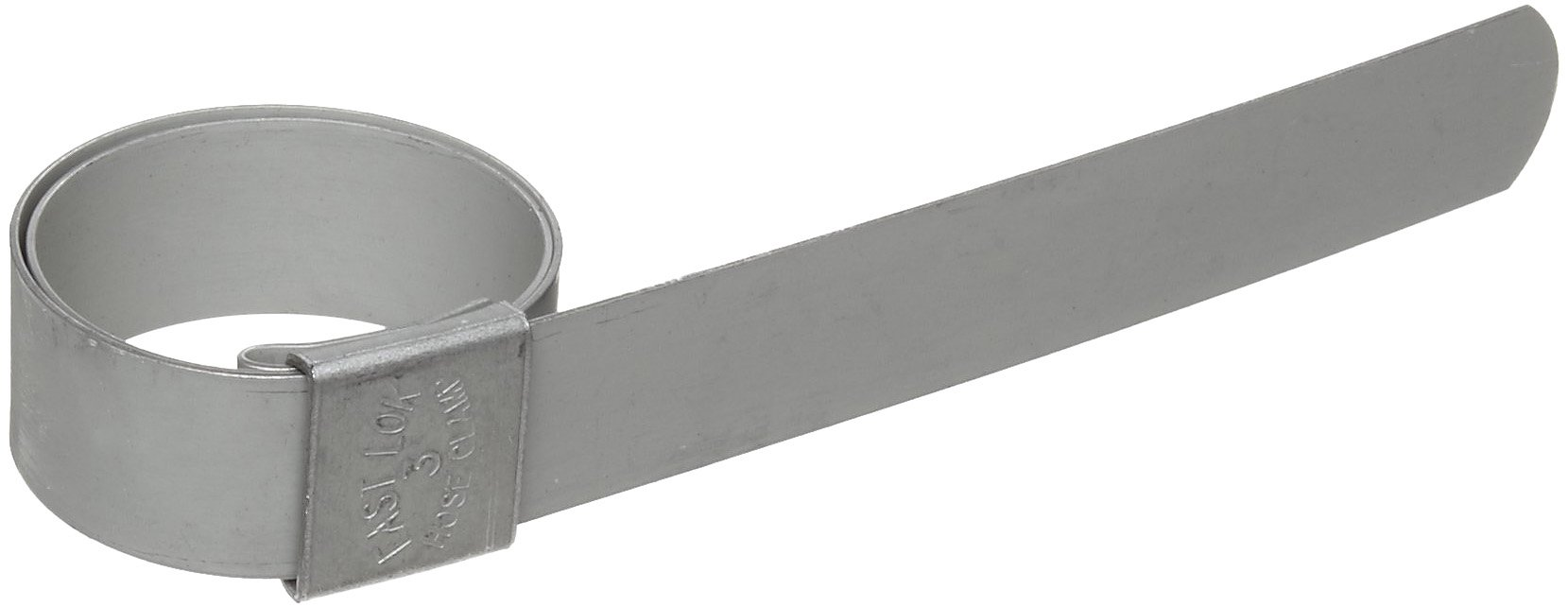 Dixon F4 Galvanized Steel Pre-Formed Center Punch Band Clamp, 5/8'' Band Width, 1'' ID (Pack of 100)