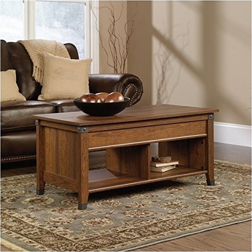 Sauder Carson Forge Lift-Top Coffee Table, Washington Cherry Finish (Coffee Tables Storage compare prices)