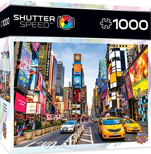 MasterPieces Shutter Speed Times Square Jigsaw Puzzle, 1000-Piece