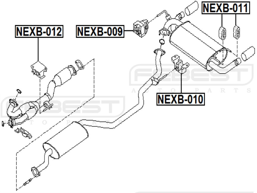 FEBEST NEXB-012 Exhaust Pipe Support