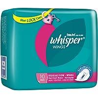 Whisper Regular Flow Wings Sanitary Pads, 10ct