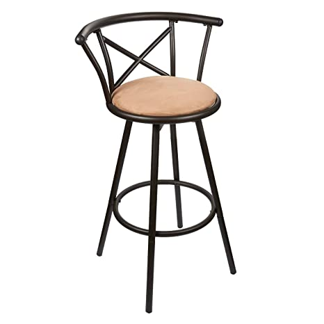 Juvale Bar Stool   Padded Barstool   Powder Coated Stainless Steel Kitchen  Stool With Cushioned Seat