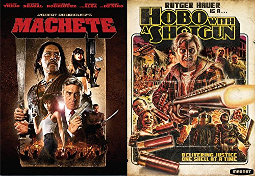 UTTER BLOODY MADNESS 2- Movie Collection - Machete & Hobo With A Shotgun Double Feature DVD (Alba Hobo)
