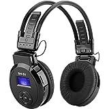 SHOPINNOV Casque lecteur MP3 pliable Carte SD Radio FM Ecran LCD Batterie rechargeable