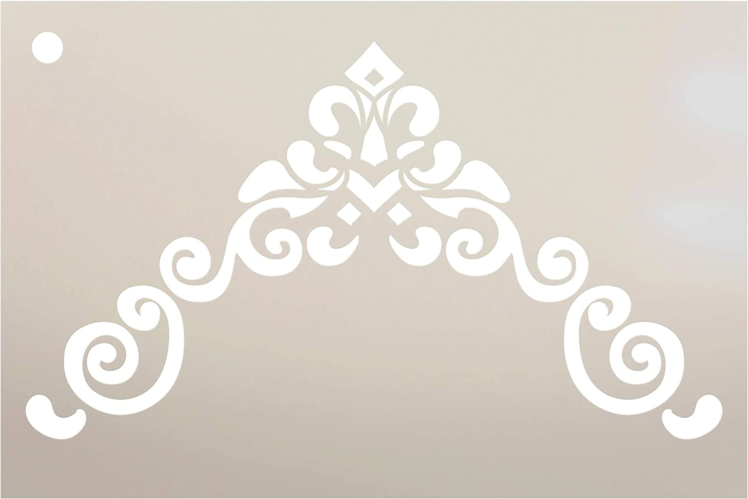 Border Scroll - Corner Embellishment Stencil by StudioR12 | Reusable Mylar Template | Use to Paint Wood Signs - Furniture - Accents - Cabinets - DIY Home Decor - Select Size (9