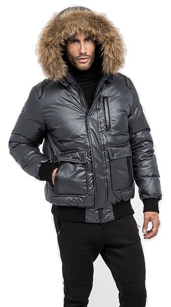bee9aee5b9 Men's Rudsak Sylvain Bomber GREY SIZE L: Amazon.ca: Clothing ...