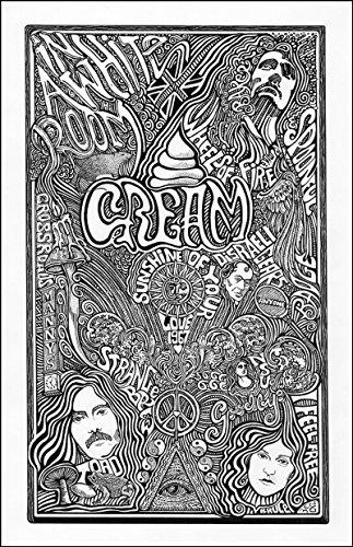 Cream - Letterpress Posterography Art Print