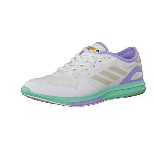 Adidas PerformanceYVORI Runner - Zapatillas Fitness e Indoor - White/Radiant Aqua/Dust Purple: Amazon.es: Zapatos y complementos