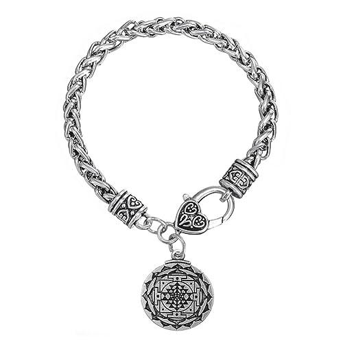 Sri Yantra Great Wealth Hindu Goddess Pendant Tantric Yoga Hindi Bulk Bracelets Jewelry