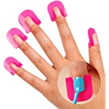 Contever® 26pcs Colle à Ongles Vernis ModèLe DéVersement Outils De Manucure Preuve Protecteur Finger Nail Art Conseils Protection des Ongles pour Nail Art