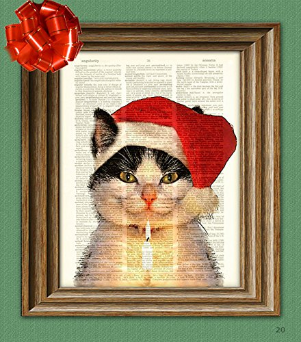 Christmas Kitten Art Print