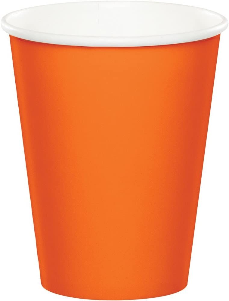 Celebrations 96-Count 9 oz. Hot/Cold Cups, Sunkissed Orange