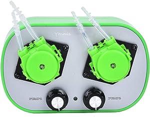 Yanmis High Flow Peristaltic Pump, 100-240V Dual Pump Head Type G628-2 Small Peristaltic Pump Food Grade Self-Priming Pump ((9-53ml/min) 2)