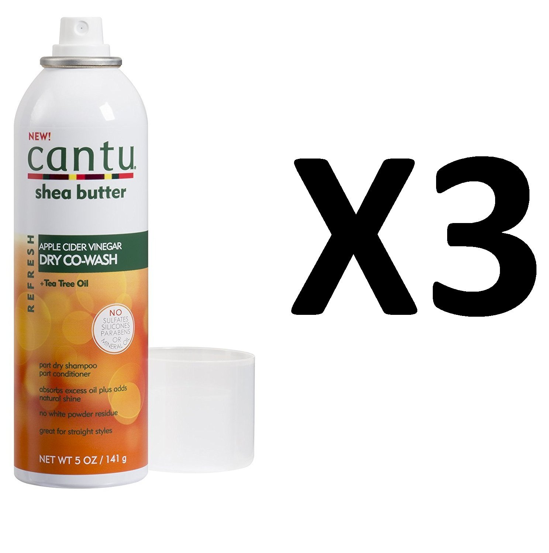 Value Pack Of 3 New Cantu Apple Cider Vinegar Refresh Dry Co Wash Amoreskin Forfifying Shampoo