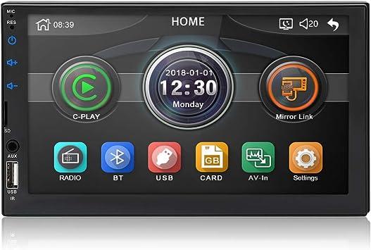 Micarba Double Din Car Stereo Bluetooth Radio Video Elektronik