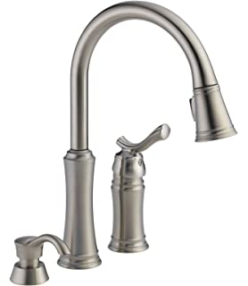 Delta Faucet 59963 SSSD DST Modern Heritage Pull Down Kitchen Faucet With  Soap