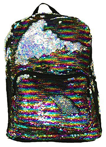 BG-709-MS-0141 Festival Rave Pride Magic Flip Reverse Sequin Backpack - Rainbow