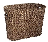 Seagrass Woven Magazine Rack - 15 Inches Wide x 12 Inches High - Storage Basket