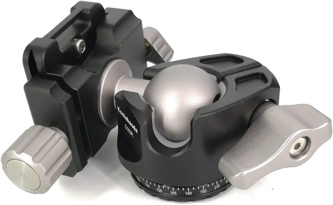 koolehaoda E4 Mini Tripod Head Ballhead with Quick Release Plate.Net Weight only 410G,Maximum Load 18KG E4-ballhaed