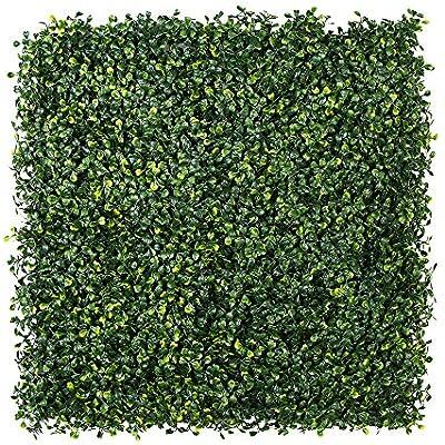 Paneles de hojas de hiedra artificiales, decoración de plantas de arbusto verde, pared de fondo verde
