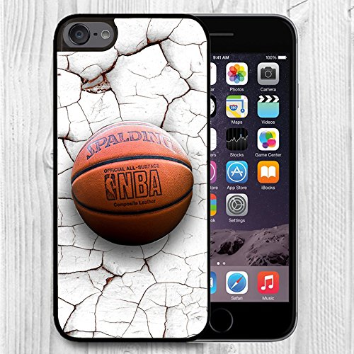 for iPod Touch Case,iPod 6 Black Case, FTFCASE Case TPU Rubber Gel Design for Apple iPod Touch 6th Generation - Crack Pattern Basketball (Ipod 5th Case Pokemon Generation)