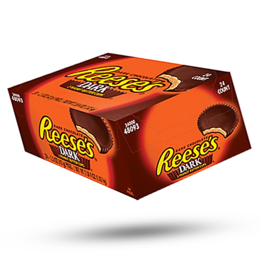 Amazon.com : Reese's Dark Chocolate Peanut Butter Cups, 1.5 Ounce ...
