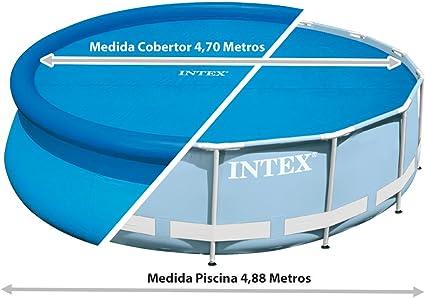Intex 29024 - Cobertor solar para piscinas 488 cm de diámetro: Amazon.es: Jardín