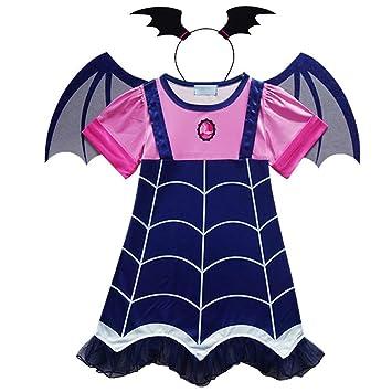 Angel ZYJ Vampirina Disfraces Infantil Niña Princesa Trajes de Halloween  Cosplay Vestidos de Carnaval con Diadema 8f7e67bed223