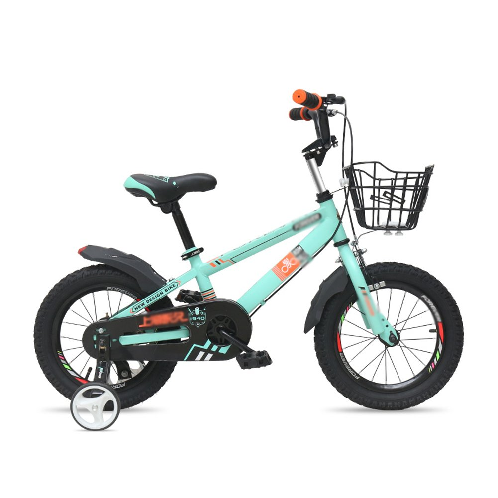 子供の自転車12 14 16インチのベビーキャリッジバイク2-8歳の男性と女性の子供の自転車緑黄色の青 B07DVXQ8DL 16 inch|緑 緑 16 inch