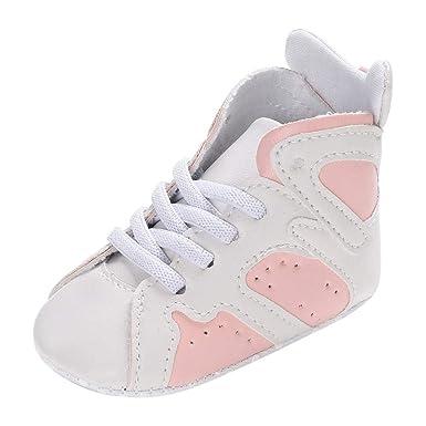 fotos oficiales 6fa14 3e6aa YanHoo Zapatos de bebé con Cordones para niños pequeños ...