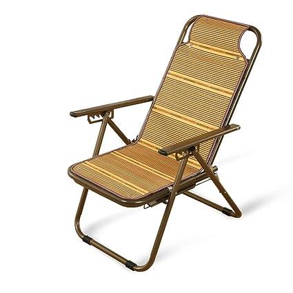 Sillas plegables Sillón reclinable de bambú Sillón ...
