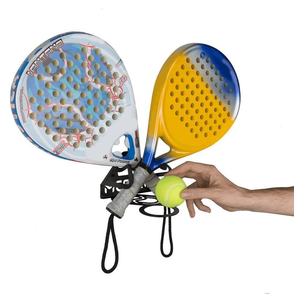 Soporte palas de pádel (100% Acero) (Blanco): Amazon.es: Deportes y aire libre