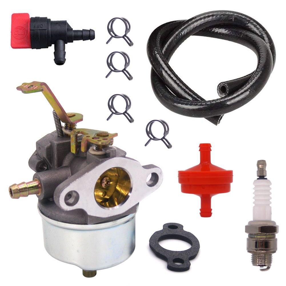 FitBest Carburetor with Fuel Line/Filter for Tecumseh Troy Bilt Horse Tillers H30 H50 H60 HH60 632230 632272 631828 Carb