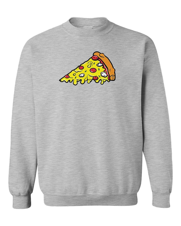 Random Funny Youth Fleece Crewneck Sweater Pizza Slice