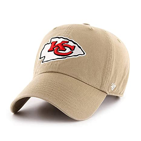 e17aab09054 Image Unavailable. Image not available for. Color   47 Kansas City Chiefs  NFL Khaki Clean UP Cap ...