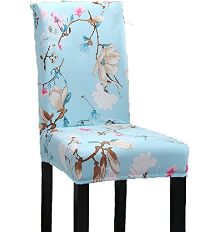 Elastic Stretch Antifouling Dining Chair Seat Protector Slipcover Decor Washable Removable Cover Sky Blue
