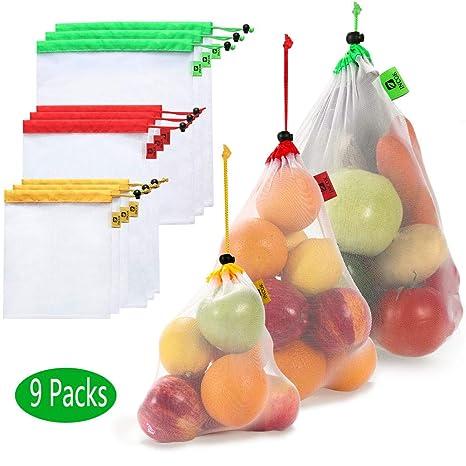 Amazon.com: Bolsas reutilizables de malla para productos ...