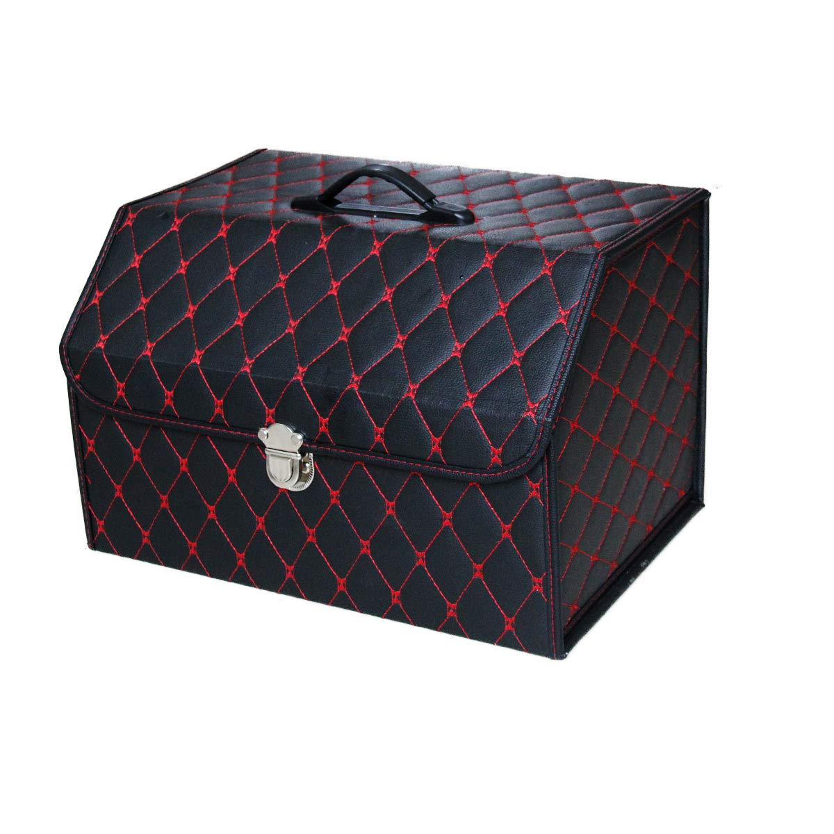 NINGIS Trunk Organizer Car Storage with Bottom Waterproof Heavy Duty Foldable Suit Any in-Vehicle Organization Needs Black-Red