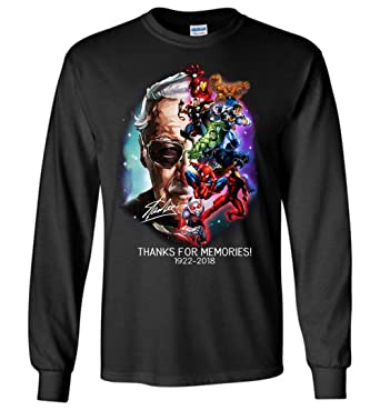 faded67c Stan-Lee Thanks for Memories Long Sleeve. Roll over image to ...