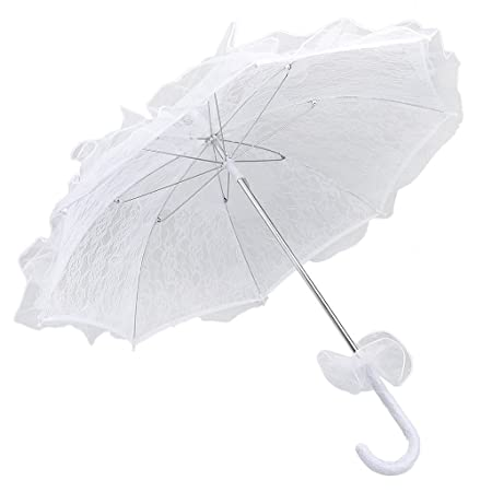 Women Lady Lace Parasol Vintage Handmade Umbrella Bridal Wedding Party Decor UK