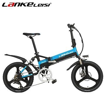 LANKELEISI G550 20 Pulgadas Bicicleta Eléctrica Plegable 48V / 240W 10AH Batería de Litio Oculta Sistema