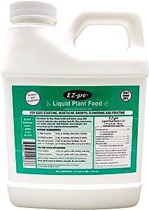 EZ-gro Liquid Plant Food for Aerogardens (1 PT) | Hydroponic Liquid Fertilizer for Smart Garden | Liquid Fertilizer is a Replacement for Aerogarden Liquid Plant Food | Source of Hydroponic Nutrients