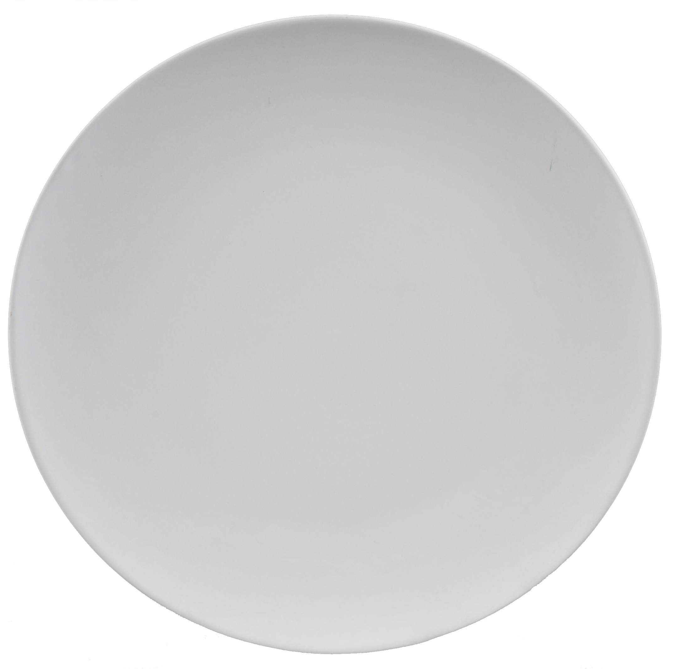 Creative Hobbies 8 Inch Coupe Salad Plates, Case of 12, Unfinished Ceramic Bisque, with How to Paint Your Own Pottery Booklet